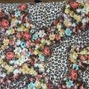 10mts Leopard Floral Stretch Fabric